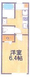 新築 フリーレント1ヵ月 桜木駅徒歩5分の好立地物件 1階1Kの間取り