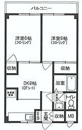 埼玉県新座市新座2丁目の賃貸マンションの間取り