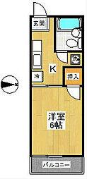 スカイパルB棟[1階]の間取り