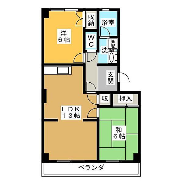 パークヒルズ213[3階]の間取り