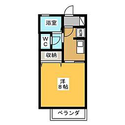 クレール静岡B[1階]の間取り