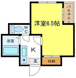 EST長居西[4階]の間取り