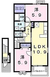 ラ エルージュ[2階]の間取り