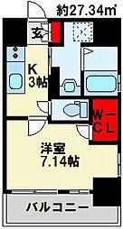 PROTO CITY 戸畑[3階]の間取り