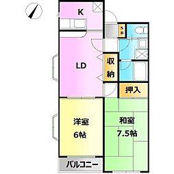 Yamayoshi ラタン館[1階]の間取り