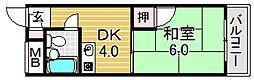 シード平野[5O5号室号室]の間取り