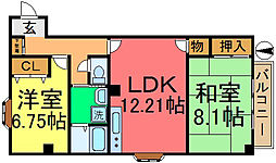 エラン松島[105号室]の間取り