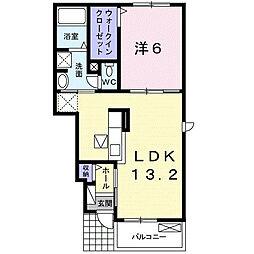 上宮永アパート[1階]の間取り