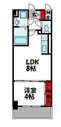 プレステージ空港東 3階1LDKの間取り