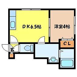 北海道札幌市北区北二十一条西7丁目の賃貸アパートの間取り