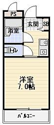 カーサ西郷[2階]の間取り