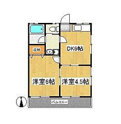 上倉田サニーハイツ[2階]の間取り