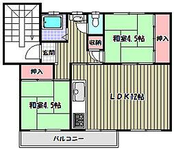 公団狭山住宅2棟[4階]の間取り