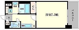 アスヴェル阿波座ブルーアース[4階]の間取り