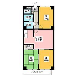 K・Sマンション[4階]の間取り