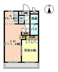 イーストサイドハイツ[2階]の間取り