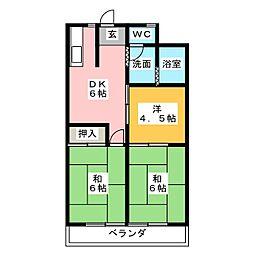 名栗苑[2階]の間取り