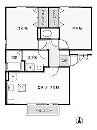 サンフルさがみ野B[3階]の間取り