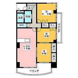 B・Flat180[3階]の間取り