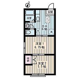 ユーホーム[2階]の間取り