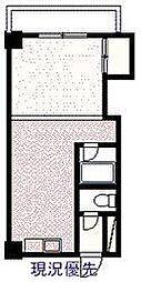 サンライズコスモ 5階ワンルームの間取り