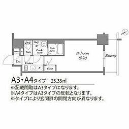 名古屋市営東山線 新栄町駅 徒歩4分の賃貸マンション 13階1Kの間取り