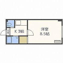 フロンティアK5[4階]の間取り