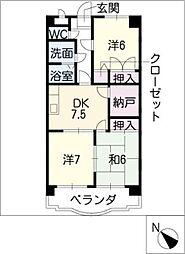 フリーダムコート弐番館[3階]の間取り