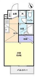 フロンティアI A棟[2階]の間取り