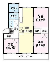 マンション名倉[1階]の間取り