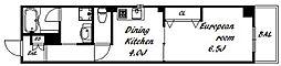 古湊第二リーフビル 2階1DKの間取り