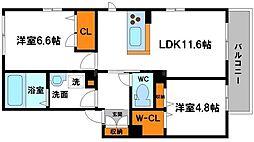 豊川モリハイツ[2階]の間取り