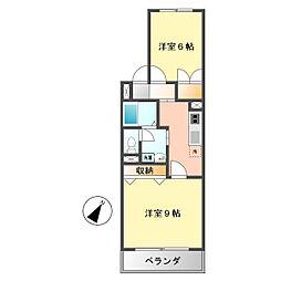 愛知県名古屋市西区山木2丁目の賃貸アパートの間取り