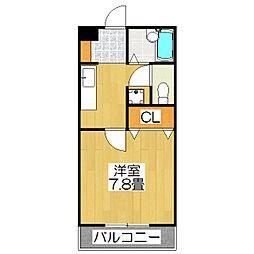 ラ・ヴィ松ヶ崎[203号室]の間取り