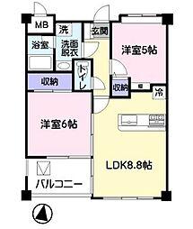 エクレール笠幡[2階]の間取り