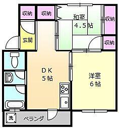 グリーンハイム堺2棟246号室[4階]の間取り