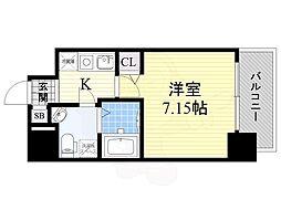 Osaka Metro御堂筋線 江坂駅 徒歩4分の賃貸マンション 12階1Kの間取り