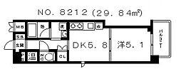 和宏一輝[5階]の間取り