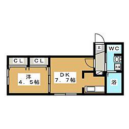 Jentile43(ジェンティーレ)[2階]の間取り