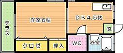 ライフピュア大浦[1階]の間取り