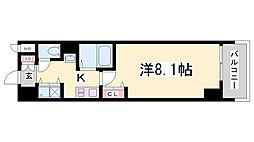 カスタリア三宮[1504号室]の間取り
