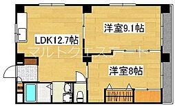 ロイヤルマンション国分II[3階]の間取り