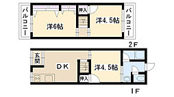 [テラスハウス] 大阪府摂津市鳥飼野々3丁目 の賃貸【/】の間取り