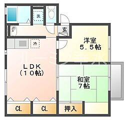 兵庫県神戸市西区池上4丁目の賃貸アパートの間取り