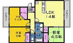 Osaka Metro御堂筋線 新金岡駅 徒歩6分の賃貸アパート 1階3LDKの間取り