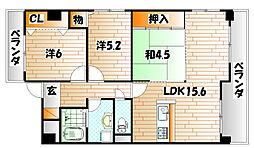 三島マンションI[5階]の間取り