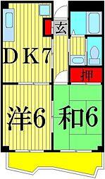 レジデンス青井[105号室]の間取り