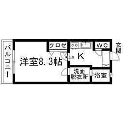 ラ・メール高田[1階]の間取り