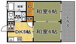 中冨ハイツ3[202号室]の間取り