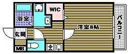 クオリア東茱萸木[2階]の間取り